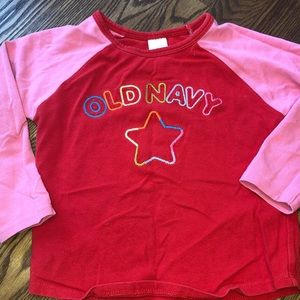 Red and pink old navy shirt size 4T